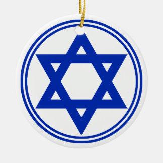 Estrela de David Ornamento De Cerâmica