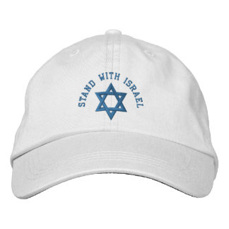 Estrela de David que eu estou com Israel Boné Bordado