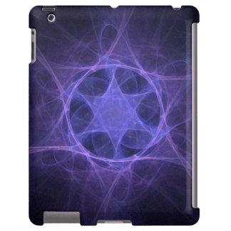 Estrela de David roxa do Fractal Capa Para iPad