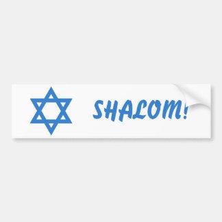 Estrela de David, SHALOM! Adesivo Para Carro