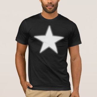 Estrela de intervalo mínimo - branco camiseta