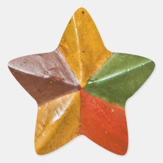 Estrela de madeira adesivos estrelas