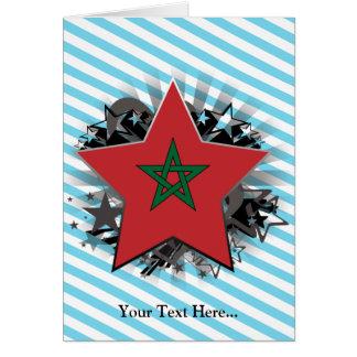 Estrela de Marrocos Cartão Comemorativo