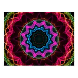 Estrela de néon do arco-íris cartão postal