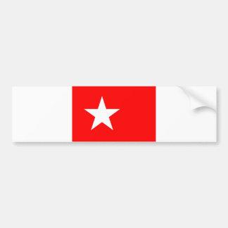 Estrela de Países Baixos da bandeira da cidade de  Adesivo Para Carro