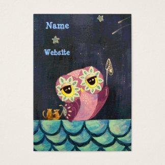 Estrela de queda da captura A da arte da coruja Cartão De Visitas