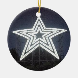 Estrela de Roanoke Virgínia Ornamento De Cerâmica Redondo