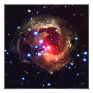 Estrela de V838 Monocerotis (telescópio de Hubble) Impressão De Foto