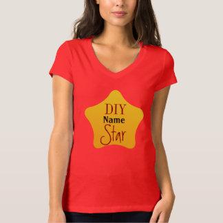 Estrela do amarelo da competição do jardineiro dos camiseta
