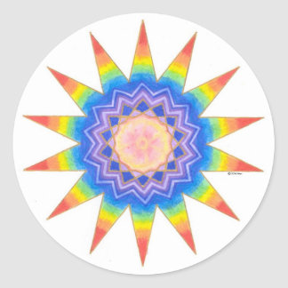 Estrela do coração do arco-íris adesivo