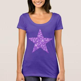 Estrela do diamante da lavanda camiseta