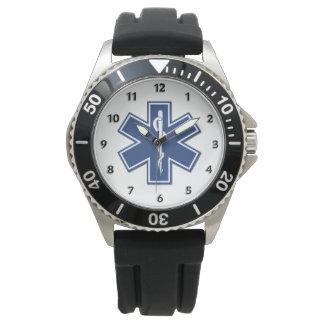 Estrela do EMS dos paramédicos de EMT da vida Relógio De Pulso
