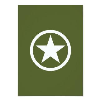 Estrela do exército convite 12.7 x 17.78cm