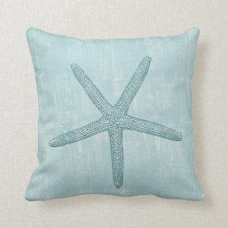 Estrela do mar azul travesseiro