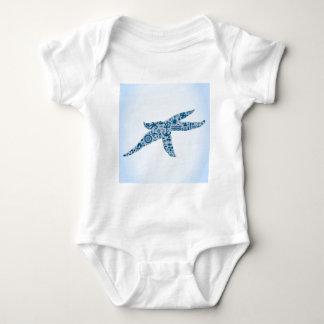 Estrela do mar body para bebê