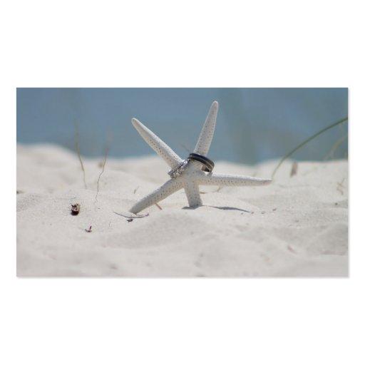 Estrela do mar do casamento de praia cartão de visita