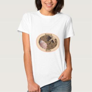 Estrela do mar do círculo da noiva da praia e mar t-shirt