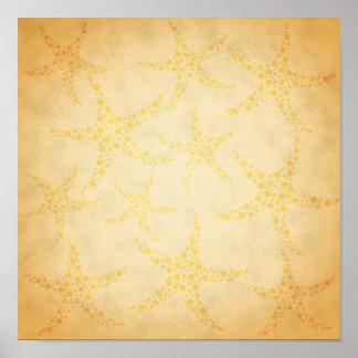 Estrela do mar Dotty no teste padrão do estilo do  Poster