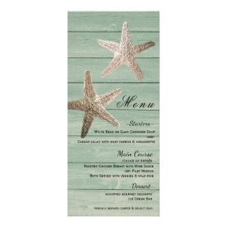 Estrela do mar dourada & cartão elegante de