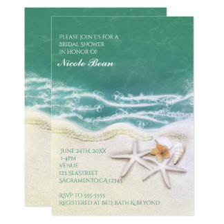 Estrela do mar nos convites da água do mar da