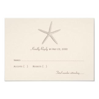 Estrela do mar pipe% neutra do cartão de resposta convite 8.89 x 12.7cm