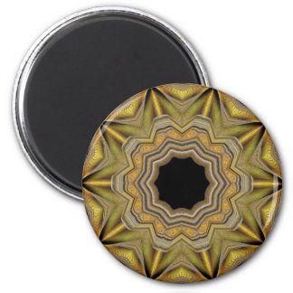 Estrela do ouro ímã redondo 5.08cm