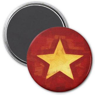 estrela do ouro ímã redondo 7.62cm