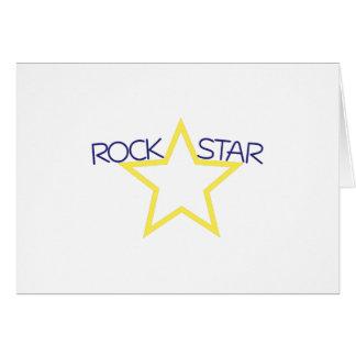 Estrela do rock cartão