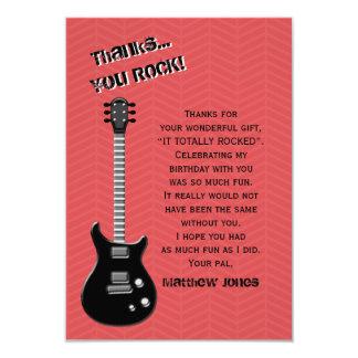 Estrela do rock da guitarra convite 8.89 x 12.7cm