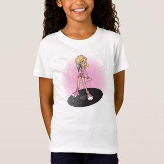 Estrela do rock da menina camiseta
