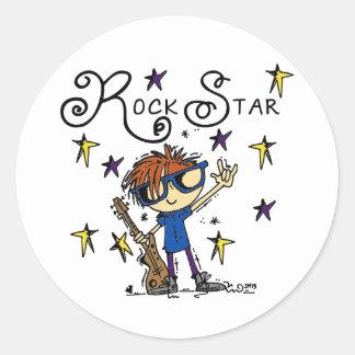 Estrela do rock do menino do Redhead Adesivo