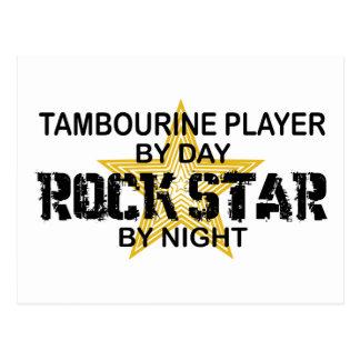 Estrela do rock do pandeiro em a noite cartão postal