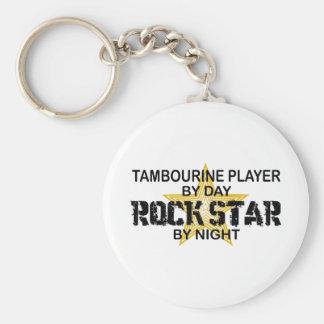 Estrela do rock do pandeiro em a noite chaveiro
