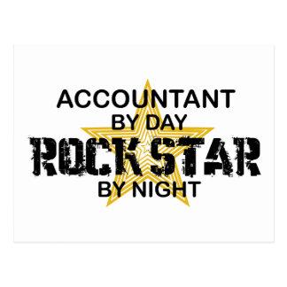 Estrela do rock em a noite - contador cartão postal