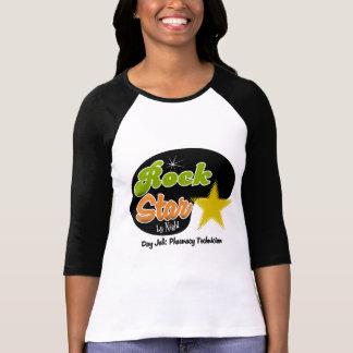 Estrela do rock em a noite - técnico da farmácia t-shirt