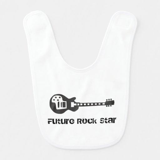 Estrela do rock futura babadores infantis