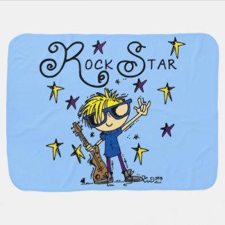 Estrela do rock loura do menino cobertores para bebe
