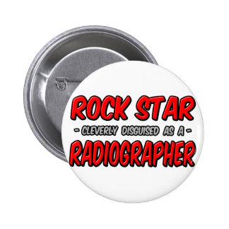 Estrela do rock. Técnico de radiologia Bóton Redondo 5.08cm