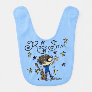 Estrela do rock triguenha babador infantil