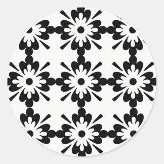 estrela do tipo do preta de imagem de Flor Adesivo
