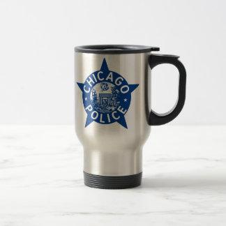 ESTRELA do VINTAGE da polícia de Chicago Caneca Térmica