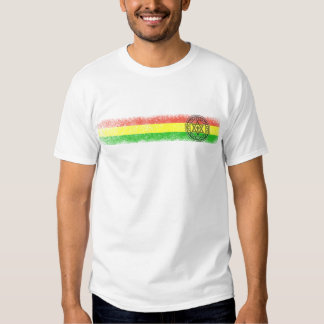 Estrela e cruz da reggae de Rasta Camiseta