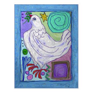 Estrela e pomba, cartão por Ian Roz