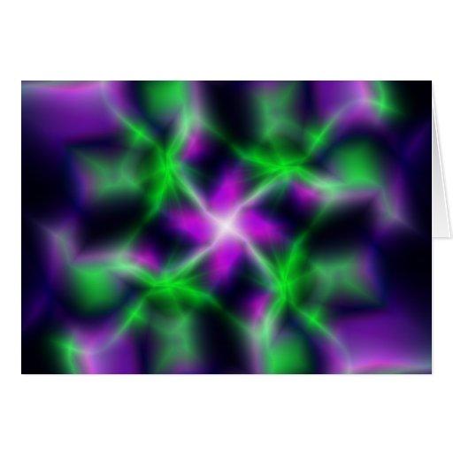 Estrela elétrica cartao