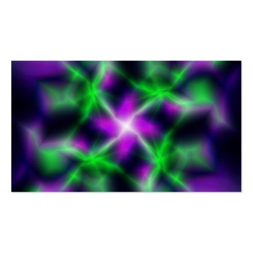 Estrela elétrica cartões de visitas