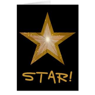 """Estrela """"ESTRELA do ouro!"""" """"Obrigado"""" cardar o Cartão Comemorativo"""
