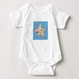 Estrela feliz body para bebê