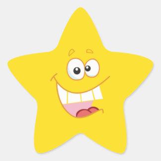 Estrela feliz dos desenhos animados adesito estrela
