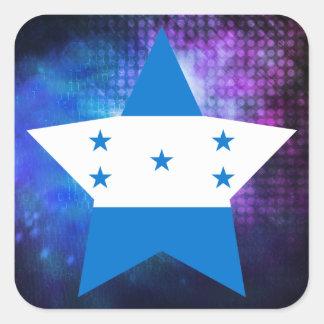 Estrela legal da bandeira de Honduras Adesivo Quadrado