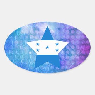 Estrela legal da bandeira de Honduras Adesivo Oval